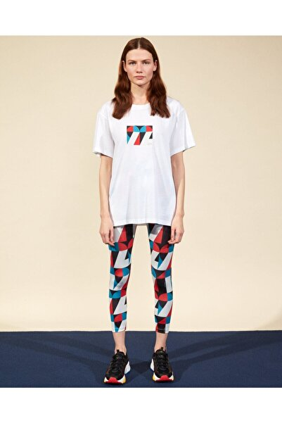 SKECHERS Graphic Tee W Crew Neck T-Shirt Kadın Beyaz Tshirt