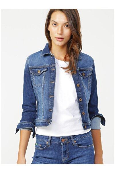 Lee Cooper Kadın Mavi Denim Ceket Repreve Freda 202 Lcf 131003