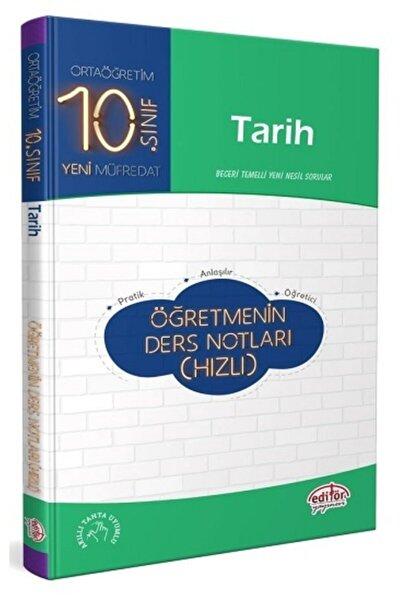 Türk Dil Kurumu Yayınları 10. Sınıf Tarih Öğretmenin Ders Notları (hızlı)
