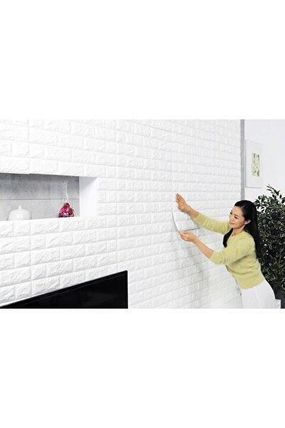 Renkli Duvarlar 3d Beyaz Tuğla Panel 77x70 Cm Kendinden Yapışkanlı Yastık Panel Duvar Paneli