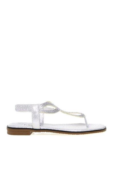 Fabrika Kadın Gümüş  Sandalet