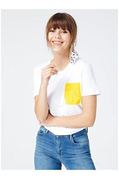 Kadın Beyaz Tişört
