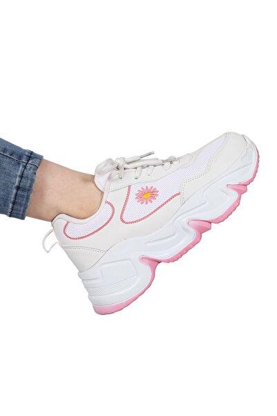 DİESİS Kadın Beyaz Sneaker