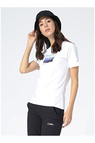 NATIONAL GEOGRAPHIC Kadın Beyaz Tişört