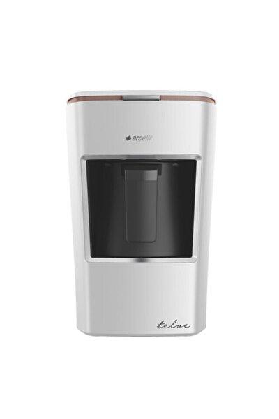 Arçelik Türk Kahve Makinesi K 3300 Mini Telve Beyaz ( Gold Cizgili )