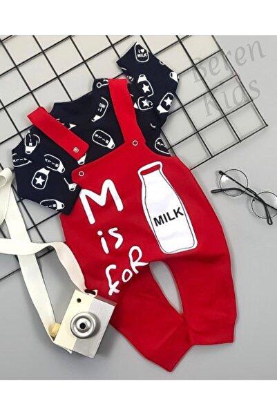 Beren Kids Milk Desenli Bebek Slopet Takım