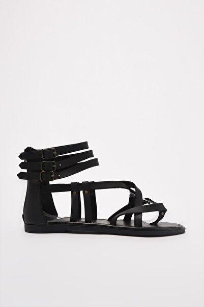 TRENDYOL SHOES Siyah Kadın Sandalet TAKSS21SD0008
