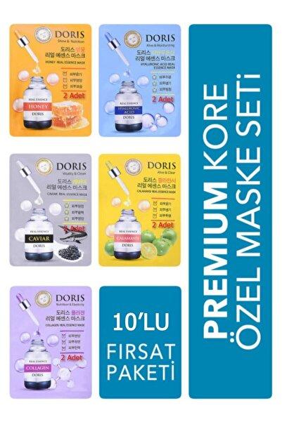 Jigott 10'lu Fırsat Paketi - Lüks Kore Maske Seti (collagen, Hyaluronic Acid, Caviar, Honey, Calamansi)