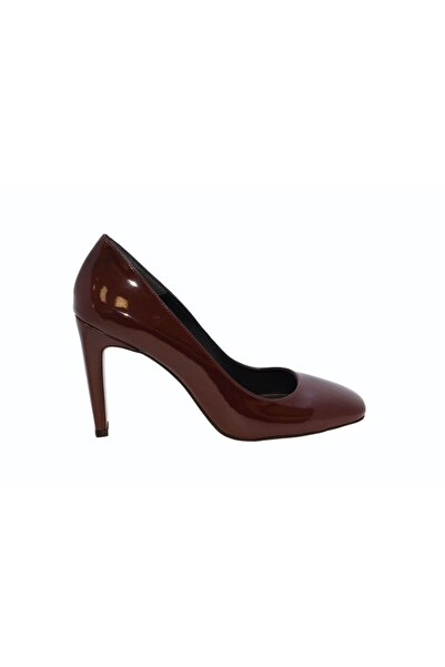 DİVUM Bordo Rugan Topuklu Ayakkabı