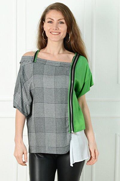 Herry Kadın Yeşil Bluz 20dmy6701