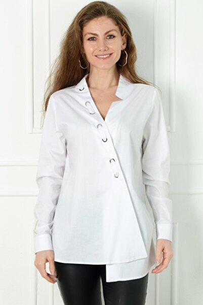 Herry Kadın Beyaz Bluz 20dmy6711