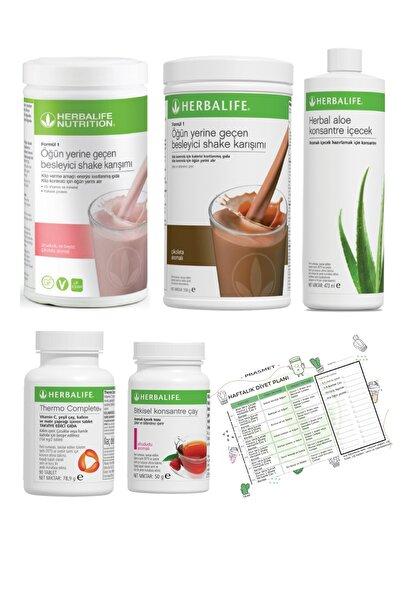 Herbalife Shake Ahududu Çikolata  Ahududu Çay  Aloe Vera Thermo Complete