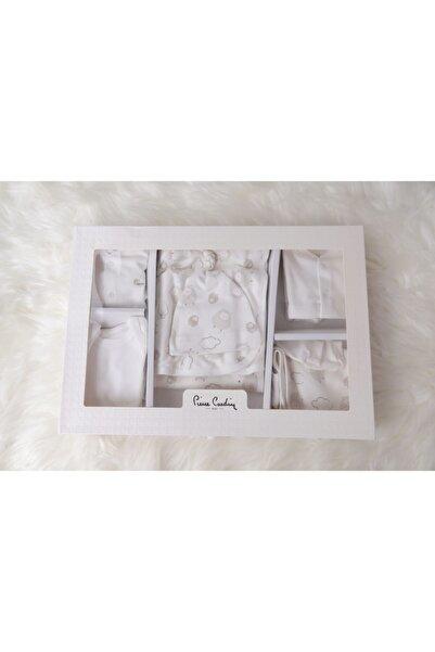 Pierre Cardin Unisex Bebek Beyaz Kuzu Desenli 10'lu Hastane Çıkış Seti