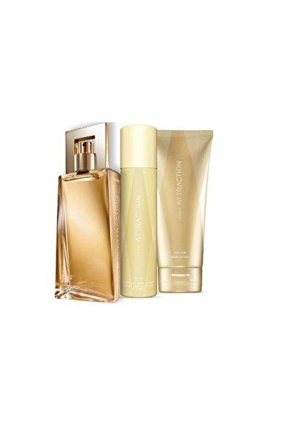 AVON Attraction Edp 50 ml Kadın Parfüm Seti 5052222022172