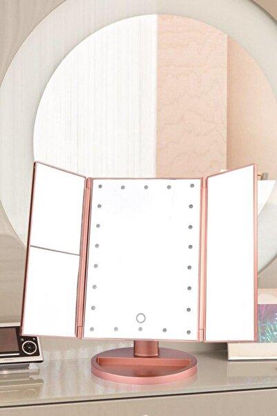 Buffer 180 Derece Ayarlanabilir Led Dokunmatik Ekran Kapaklı Makyaj Masası Aynası Modeli