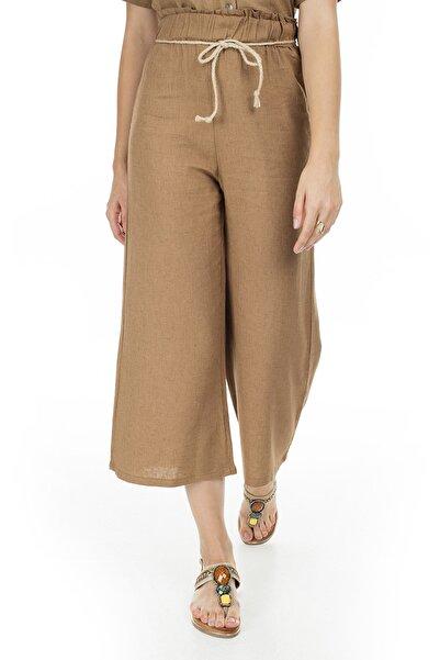 Lela Kadın Kahverengi Yüksek Bel Pantolon