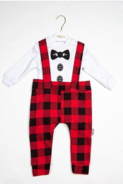 Baby Doss Erkek Kırmızı Ekose Desenli Slopet