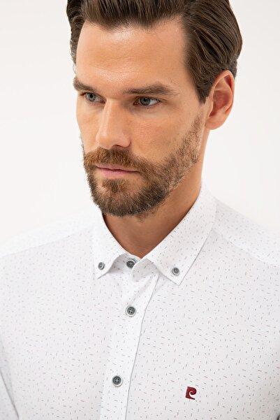 Pierre Cardin Erkek Bordo Detaylı Slim Fit Gömlek G021GL004.000.1113617
