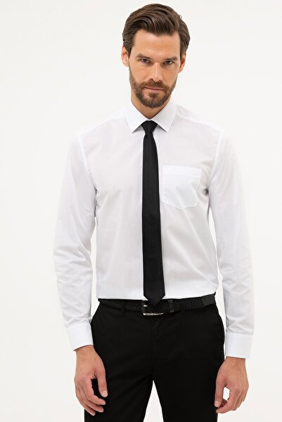 Pierre Cardin Erkek Beyaz Regular Fit Basic Gömlek G021GL004.000.1179516
