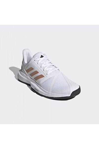 adidas Fu8147 Courtjam Bounce Kadın Beyaz Tenis Ayakkabısı