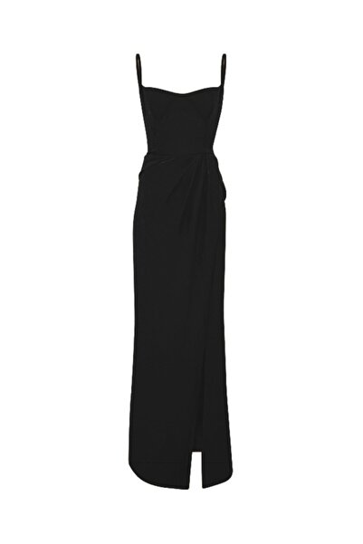 SAGAZA Kadın Siyah Blueberry Elbise