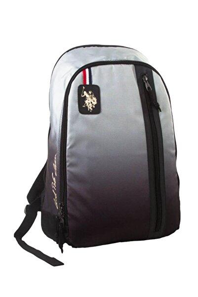 U.S. Polo Assn. Unisex Çocuk Gri Siyah Üç Bölmeli Günlük Sırt Çantası 6390