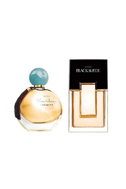 AVON Black Suede Erkek Parfüm Edt 75 ml+ Far Away Infinity Edp 50 ml Kadın Parfümü Frt50509018000201