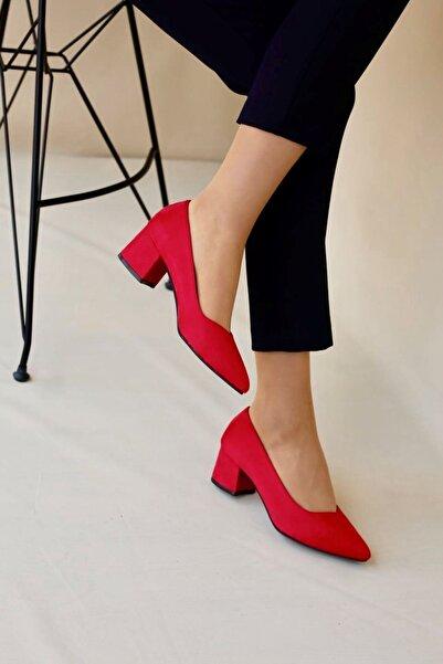 LDÇ Kadın Kırmızı Topuklu Ayakkabı