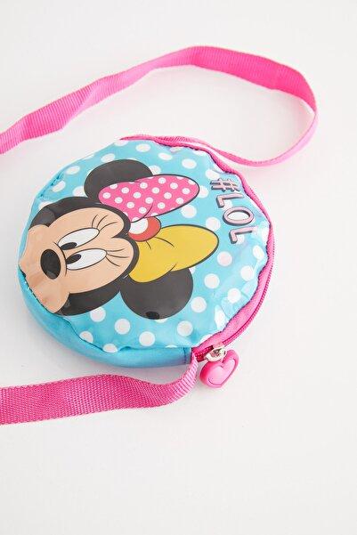 Disney Mickey Mouse Kız Çocuk Pembe Lisanslı Çocuk Omuz Çantası