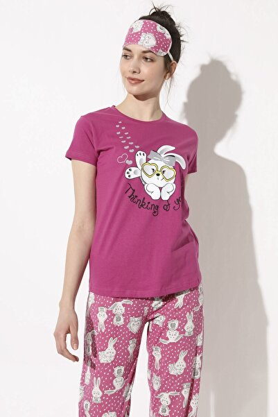 Arma Life Sweet Rabbit Baskılı Pijama Takımı - Pembe