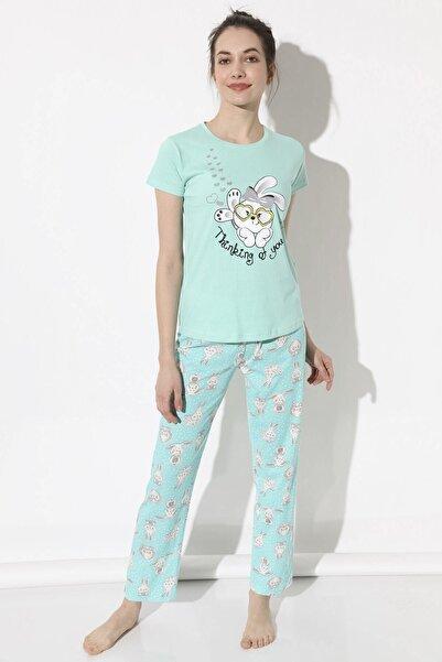 Arma Life Sweet Rabbit Baskılı Pijama Takımı - Mint