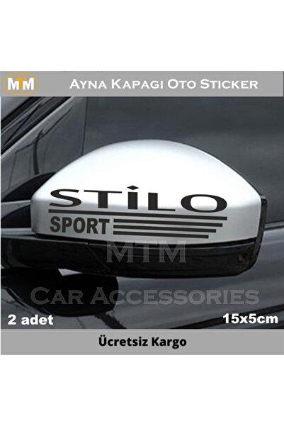 Adel Fiat Stilo Ayna Kapağı Oto Sticker (2 Adet)