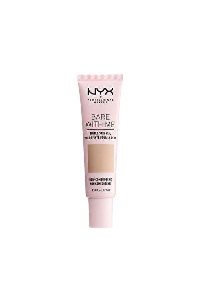 NYX Professional Makeup Renkli Nemlendirici - Bare With Me Skin Veil 04 True Beige Buff 800897188245