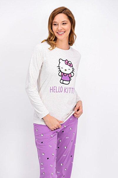 Hello Kitty Kremmelanj Lisanslı Kadın Pijama Takımı