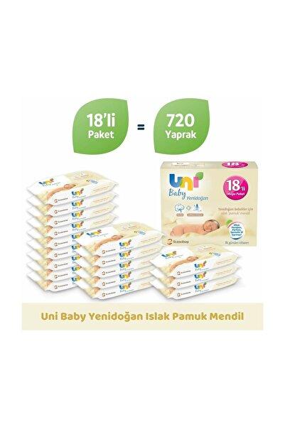 Uni Baby Yenidoğan Islak Mendil 18'li Paket - 720 Yaprak 8692190010277