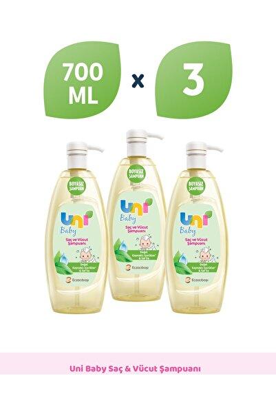 Uni Baby Şampuan 700 ml -3'lü
