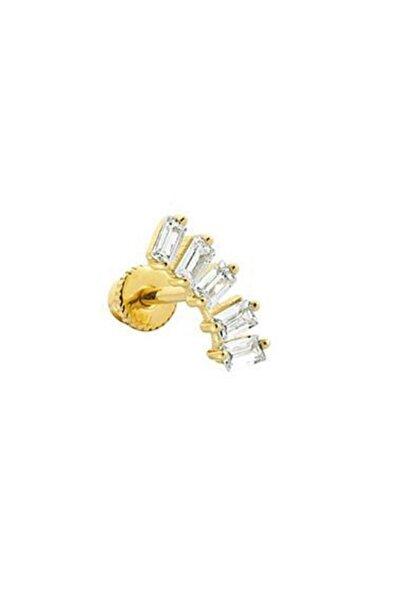 Safir Kuyumculuk Minimal Altın Piercing / Tragus Küpe Kl11077