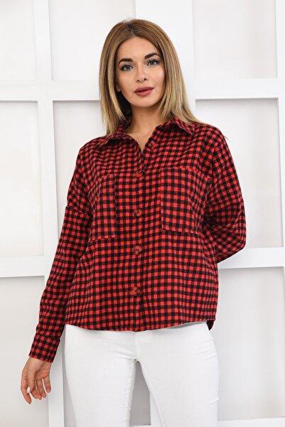 İroni Cepli Dama Desen Gömlek