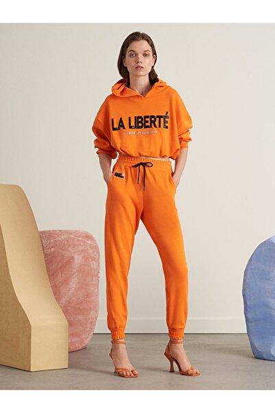 Nocturne Kadın Oranj Koton Jarse Jogging Pantolon N21k-3316-0027