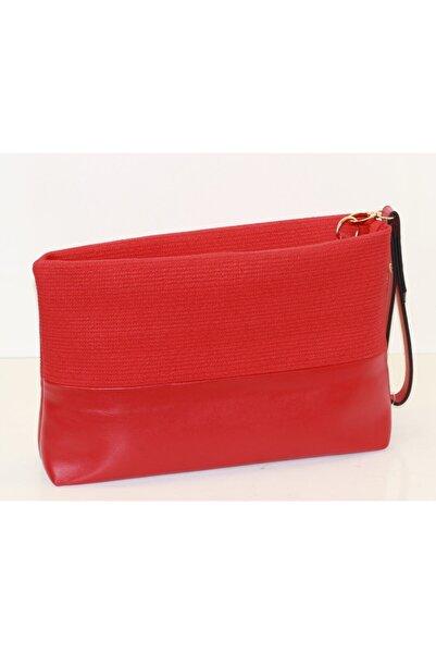 black bags Kadın Kırmızı Klasik Clutch