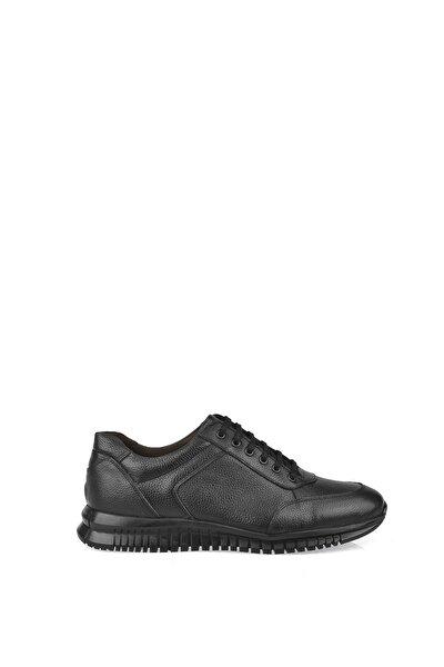 Ziya Erkek Siyah Hakiki Deri Ayakkabı 103423 101