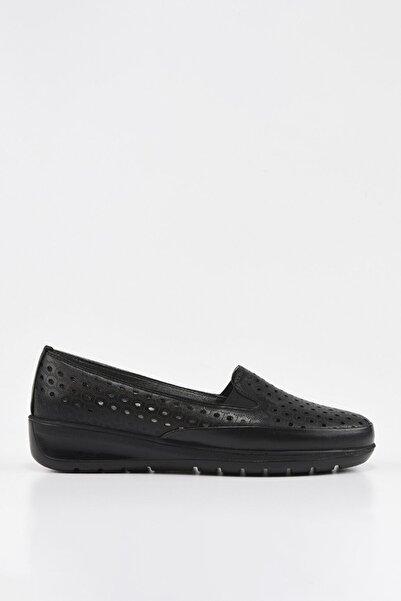 Hotiç Hakiki Deri Siyah Kadın Günlük Ayakkabı