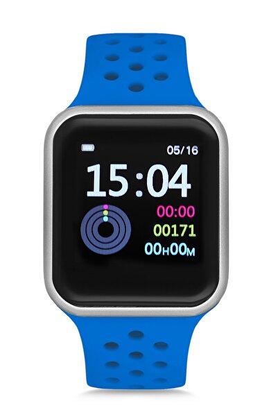 Belonni Collection Unisex Mavi Su Geçirmez Akıllı Saat Gri Dikdörtgen Bc8.bwblbl