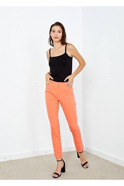 Adze Kadın Turuncu 5 Cepli Pantalon