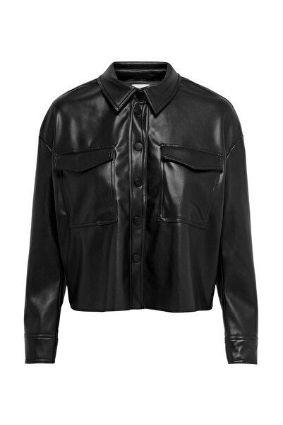 Only Marina Faux Kadın Siyah Deri Ceket (15206821-B)