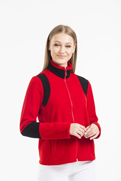 Balo Moda Kadın Kırmızı Mont