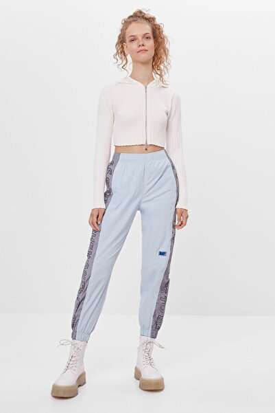 Bershka Reflektör Jogging Mavi  Kadın  Fit Pantolon