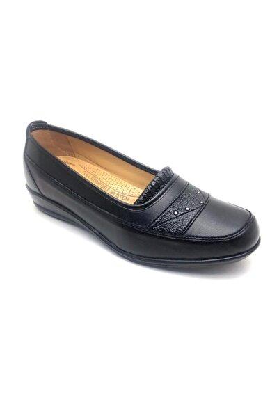 Derilax Kadın Siyah Tam Ortopedik Anne Ayakkabısı