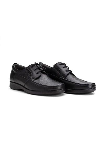 100% Turkish Design Erkek Siyah Deri Günlük Ayakkabı