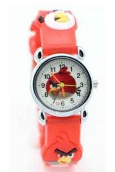 Angry Birds Unisex Çocuk Kırmızı Angry Bird Kol Saati